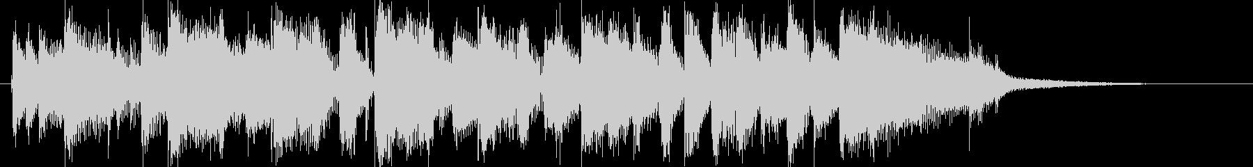 10秒ジングル/ファンクロック/激しいの未再生の波形