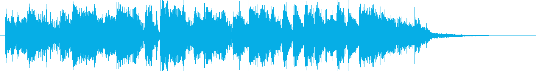 10秒ジングル/ファンクロック/激しいの再生済みの波形