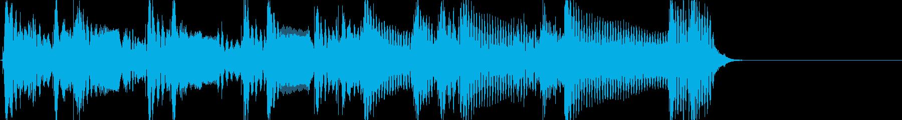 怪しいアコギジングル ワンフレーズ生音の再生済みの波形