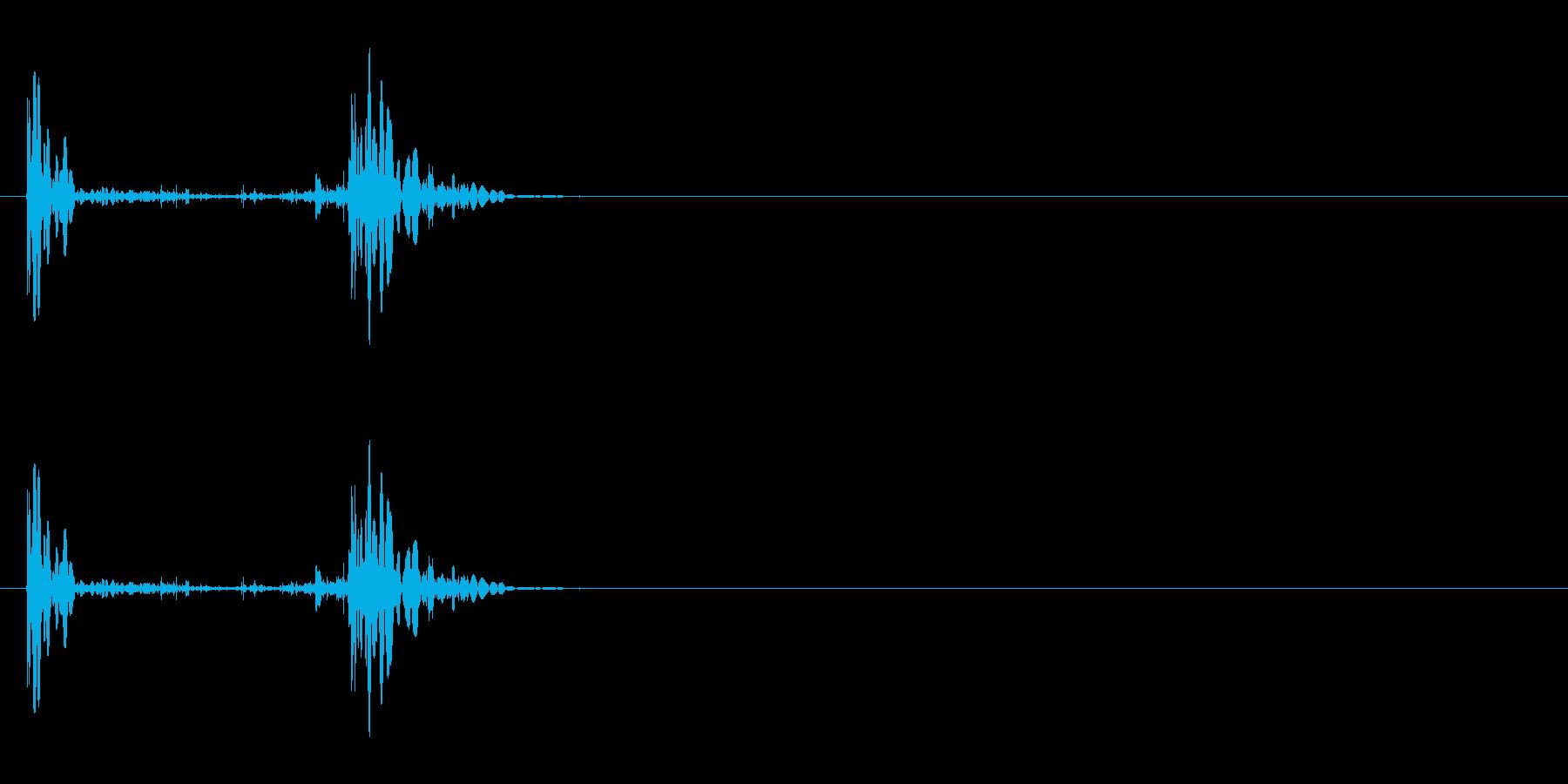 革のブーツ・着地2の再生済みの波形