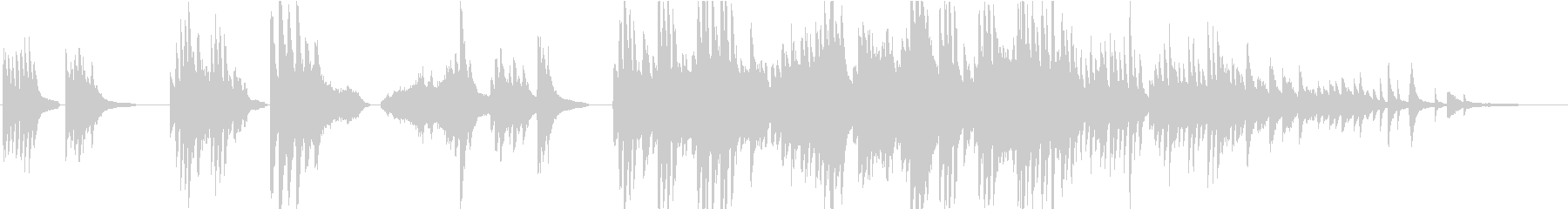 弦楽器とピアノの暖かくて優しいBGMの未再生の波形