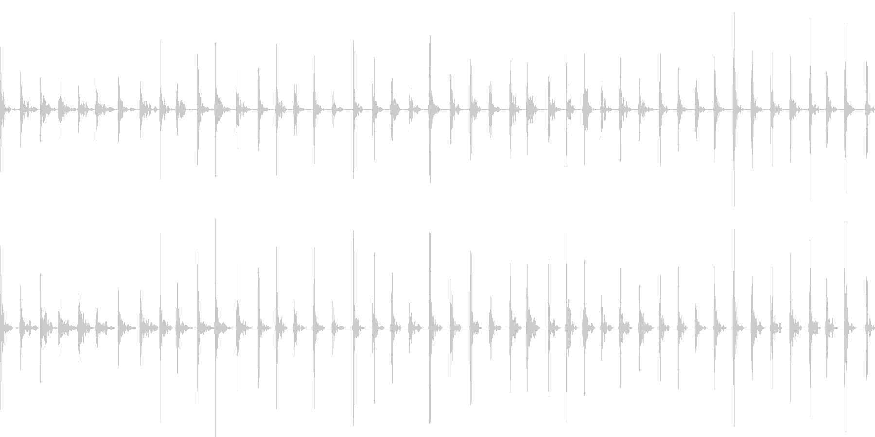 フローリングの床を走る(靴下で走る)の未再生の波形