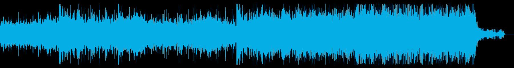ゆっくり浮上するSF風アンビエントの再生済みの波形
