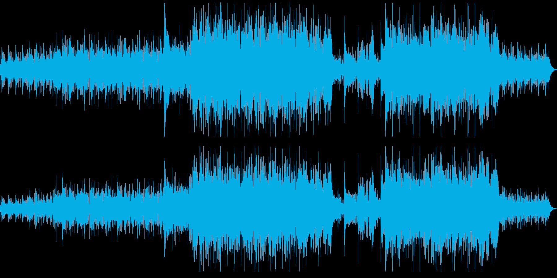 神秘的な森をイメージしたケルト風民族楽曲の再生済みの波形