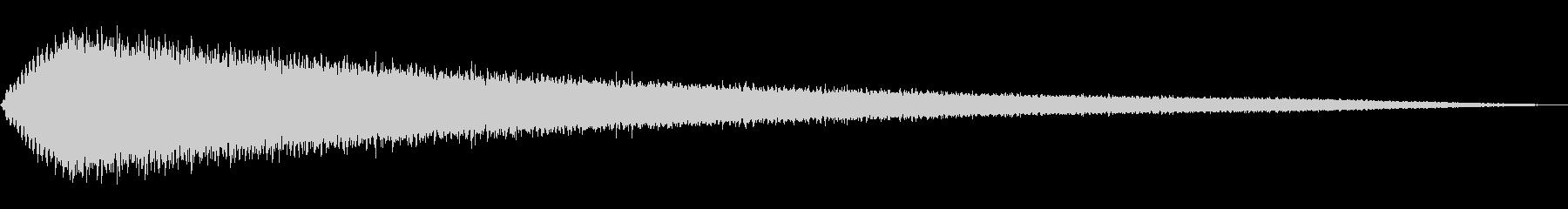 静かなマジカルフェードの未再生の波形