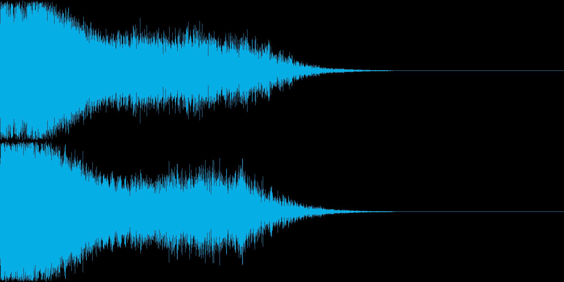 刀 剣 ソード カキーン キュイーン01の再生済みの波形