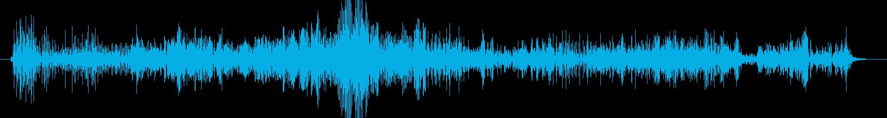 ノイズ ランブルグリッチロング02の再生済みの波形