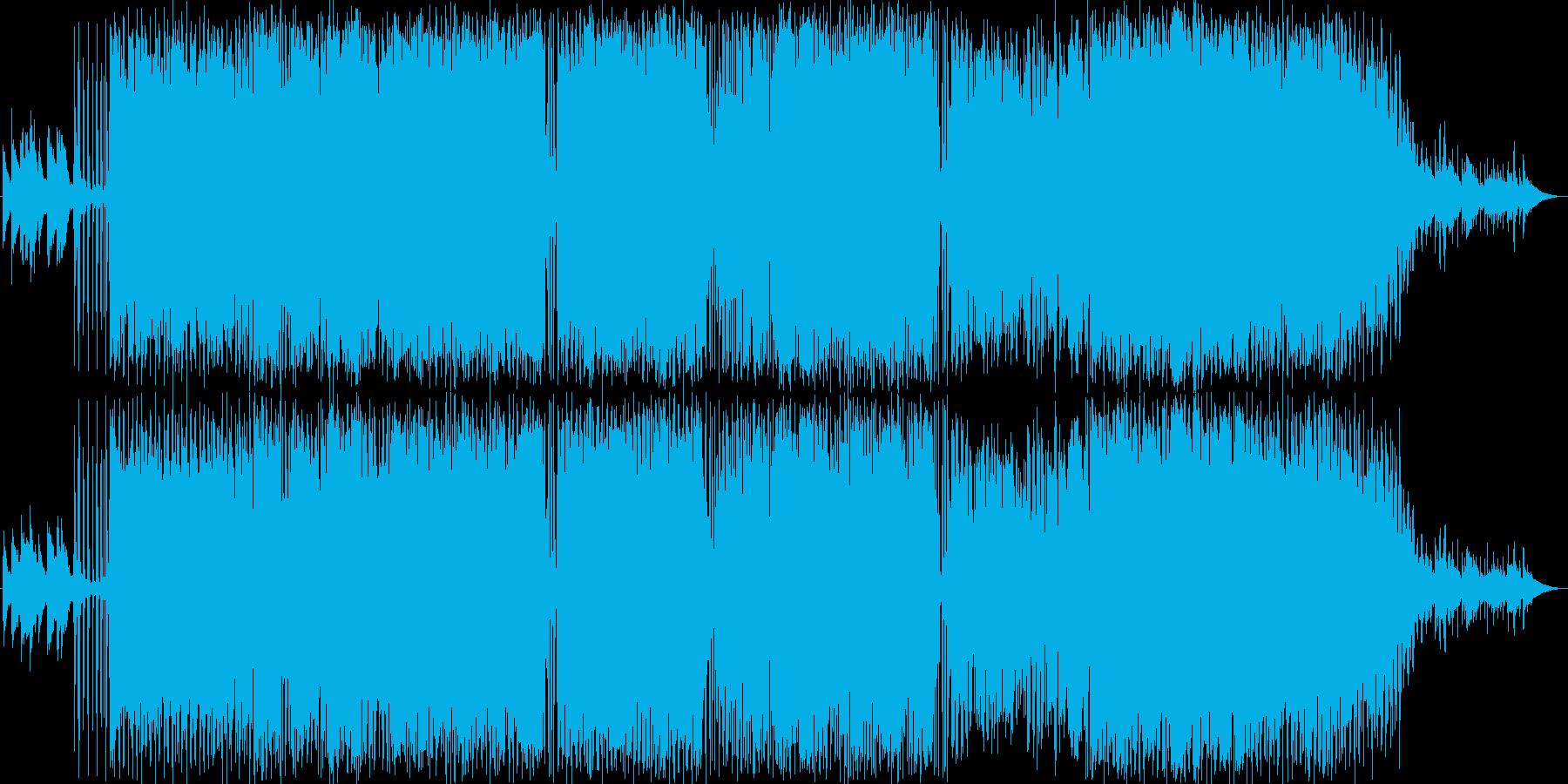 アンニュイな失恋ソングの再生済みの波形