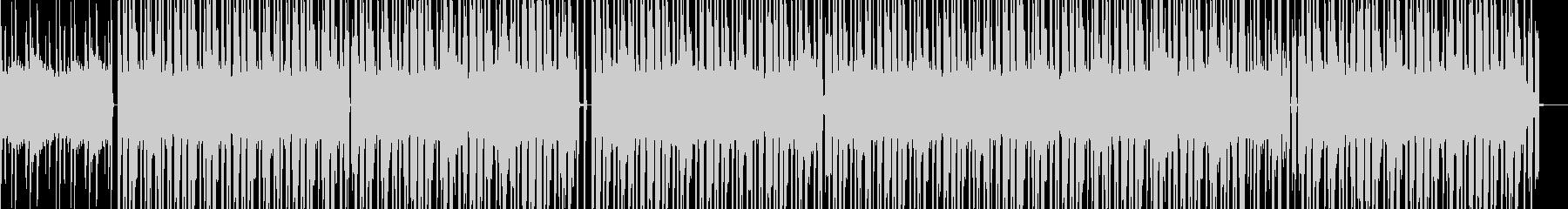 打ち込みドラムによるリズム主体の曲の未再生の波形