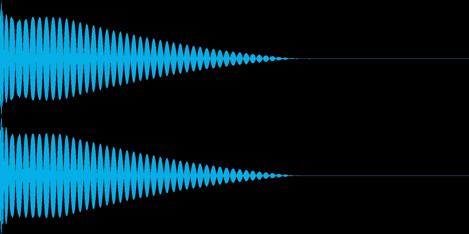 DTM Kick 4 オリジナル音源の再生済みの波形
