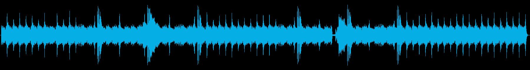 勢いと響きに迫力あるメロディーの再生済みの波形