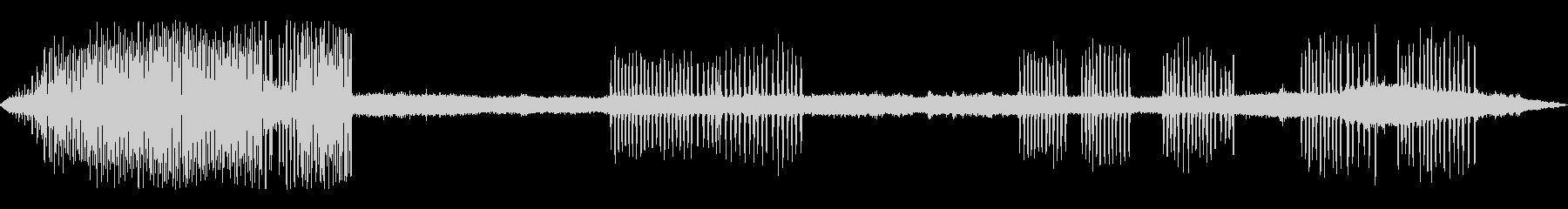 カエルの鳴き声-5の未再生の波形