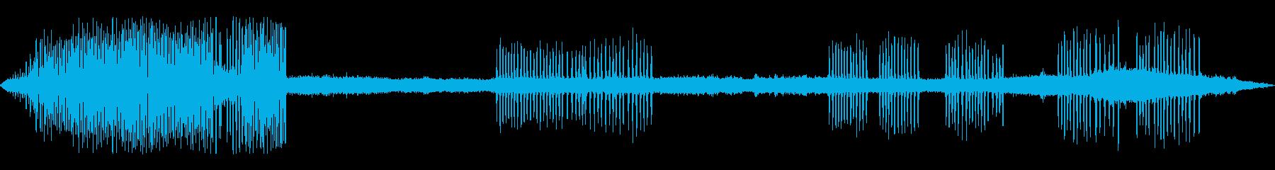 カエルの鳴き声-5の再生済みの波形