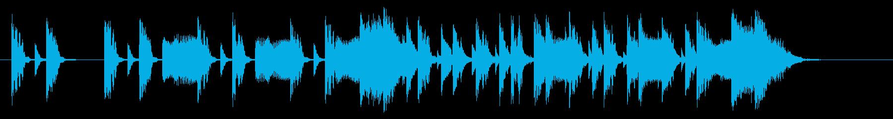 シンセベースが効果的なジングルの再生済みの波形