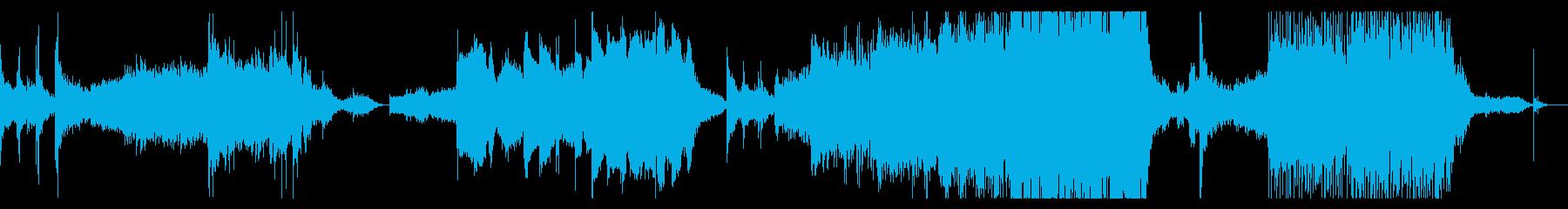 ゲームの最終ボス戦風なド派手BGMの再生済みの波形