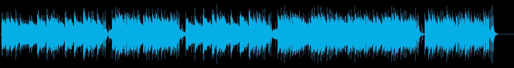 目にしみる夕日のハーモニカの再生済みの波形