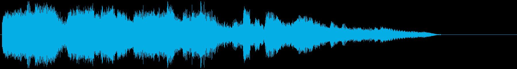 晴れやかなピアノとサックスの15秒CM曲の再生済みの波形