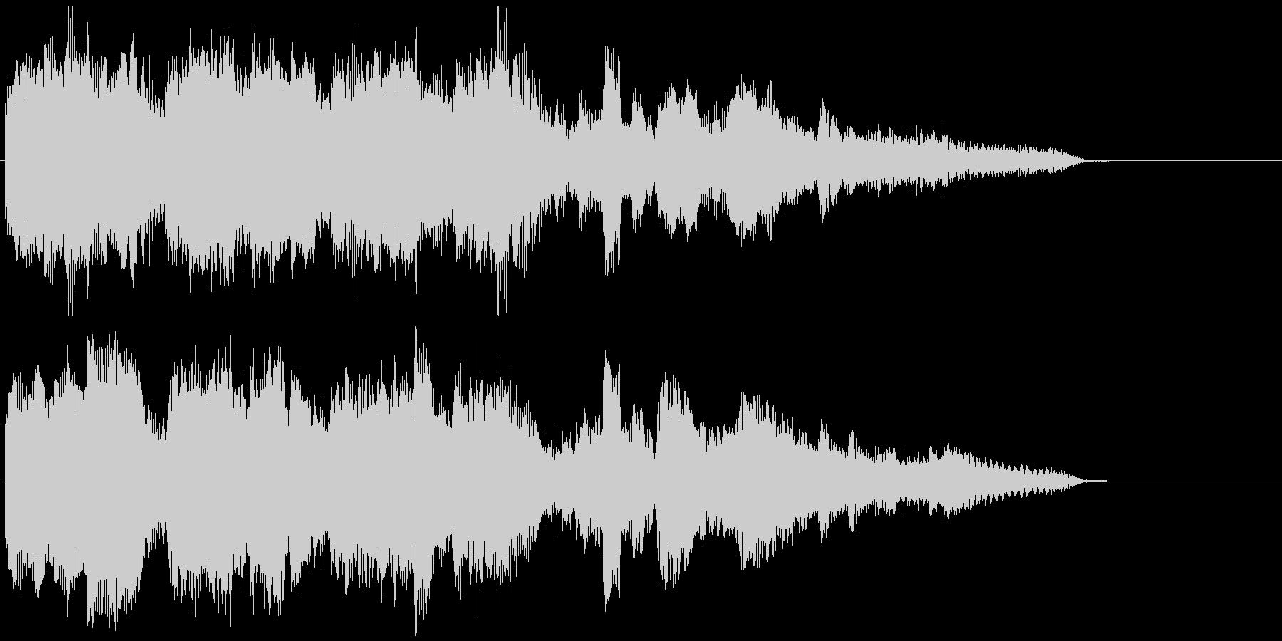 晴れやかなピアノとサックスの15秒CM曲の未再生の波形