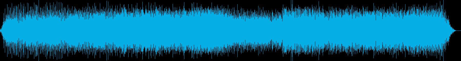 ヘビーでアグレッシブなミニマルテクノの再生済みの波形