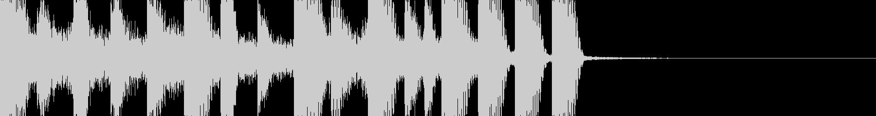 ドラムンベースなファンファーレの未再生の波形