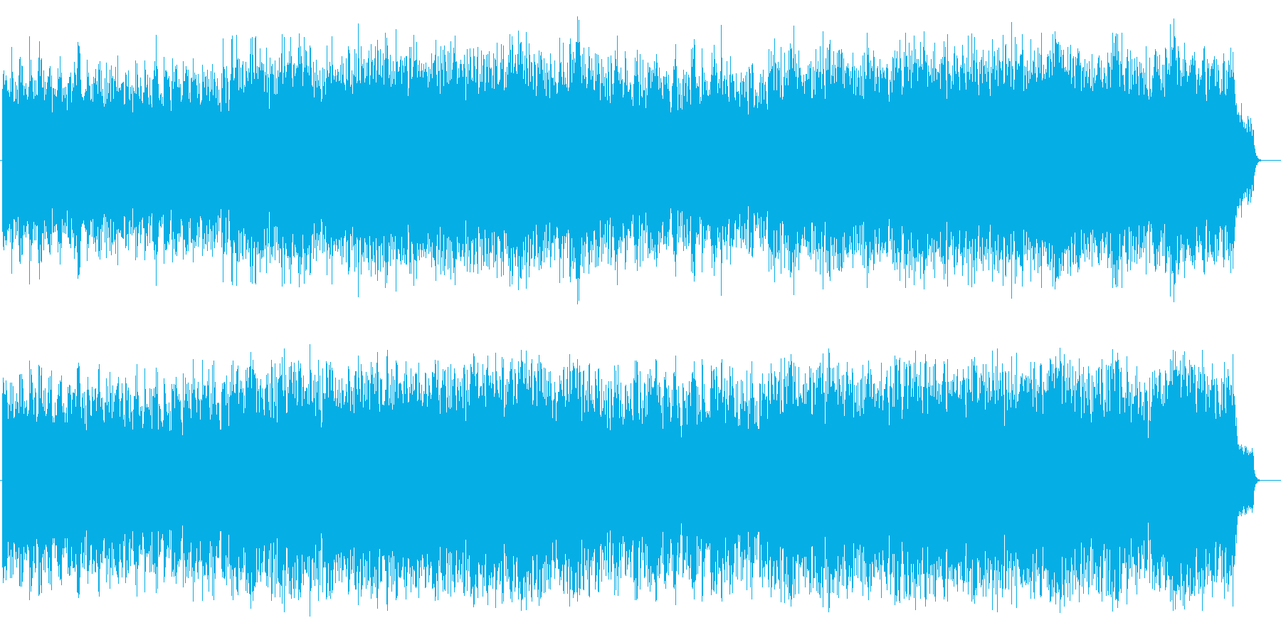 アコースティック風BGM(フルサイズ)の再生済みの波形