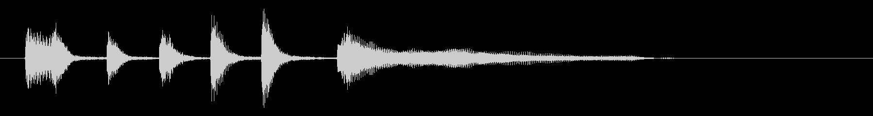 サウンドロゴ・ジングル(ピアノ)の未再生の波形