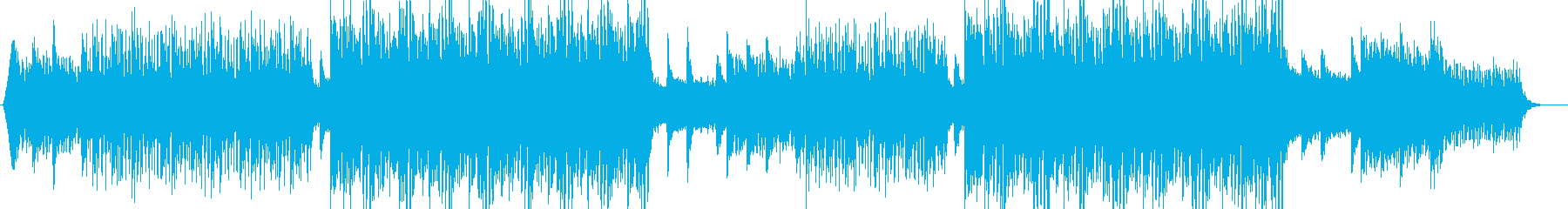 A song with a fashionable and clear image's reproduced waveform