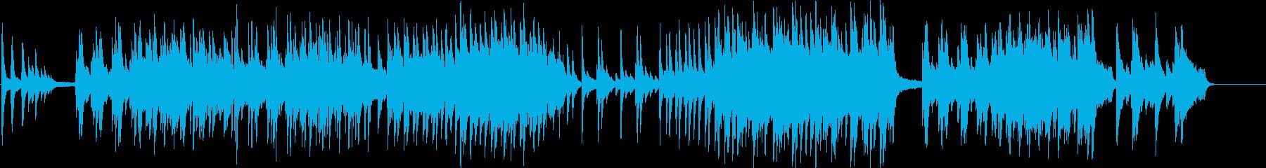 清々しいピアノ曲の再生済みの波形