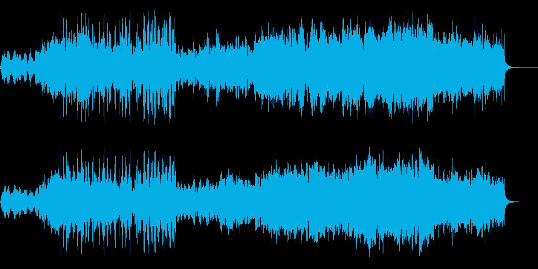 バイオリンとフルートの優しいバラードの再生済みの波形