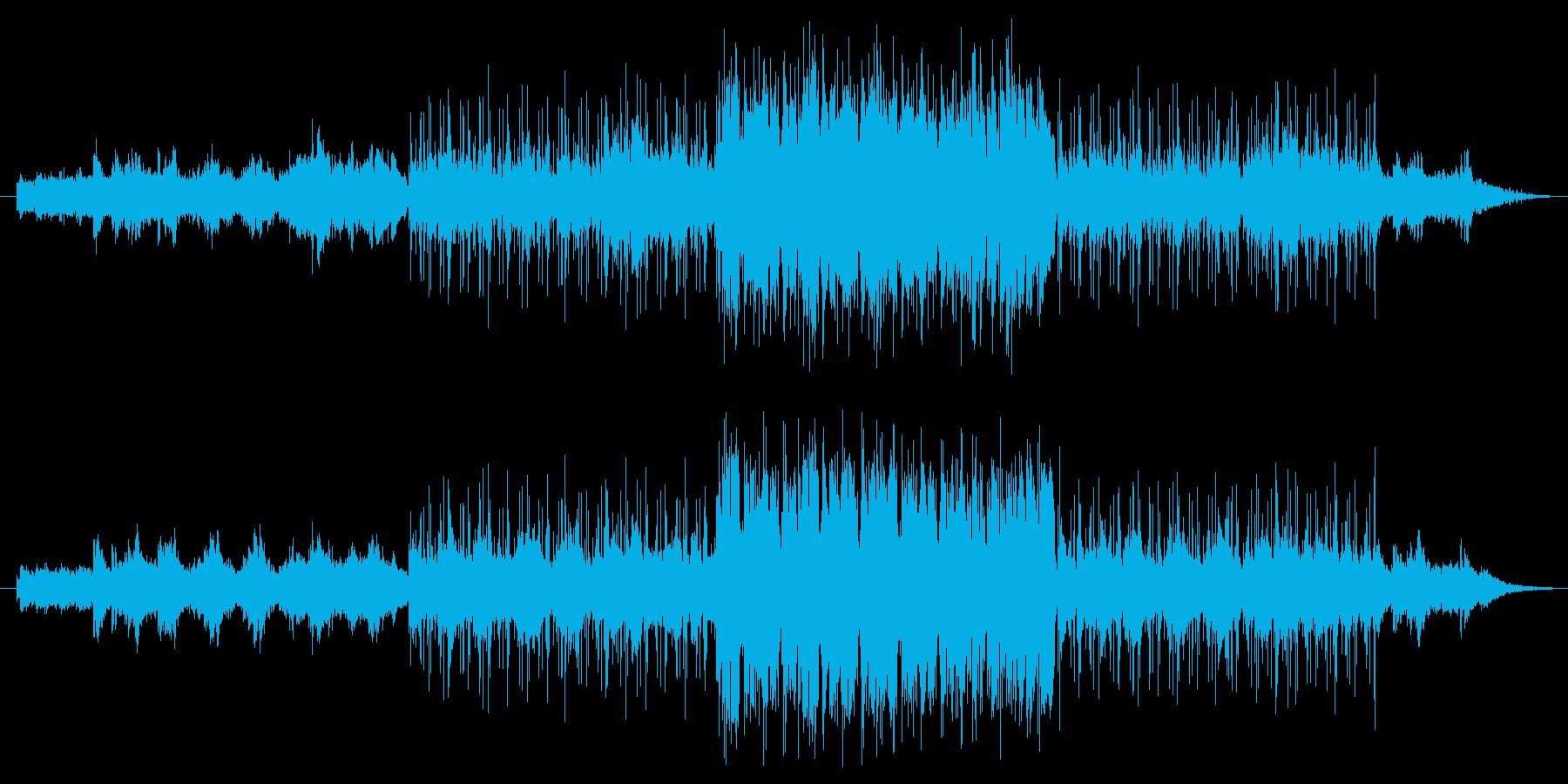 人の気配のない静かな森をイメージした曲…の再生済みの波形