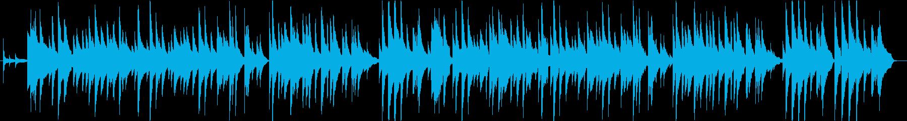 ピアノとベースとアコースティックギターの再生済みの波形