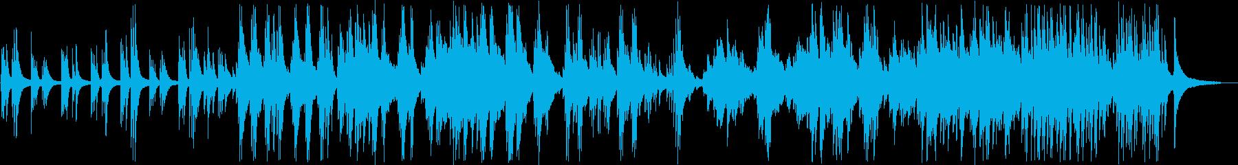 感動的なバラードのピアノソロの再生済みの波形