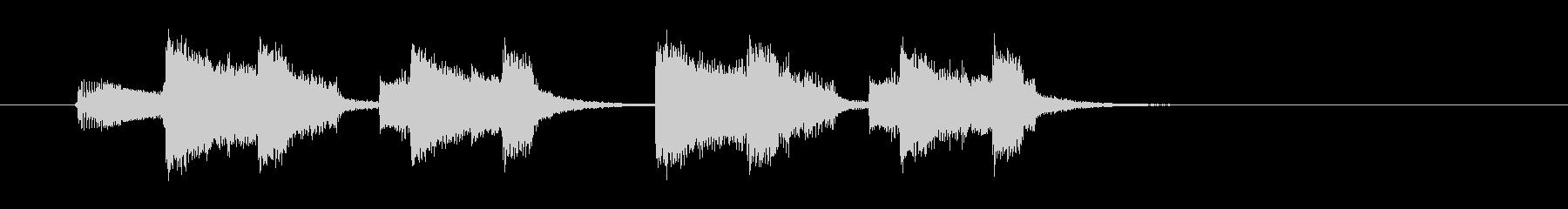 インパクトのあるエレキギターのジングルの未再生の波形