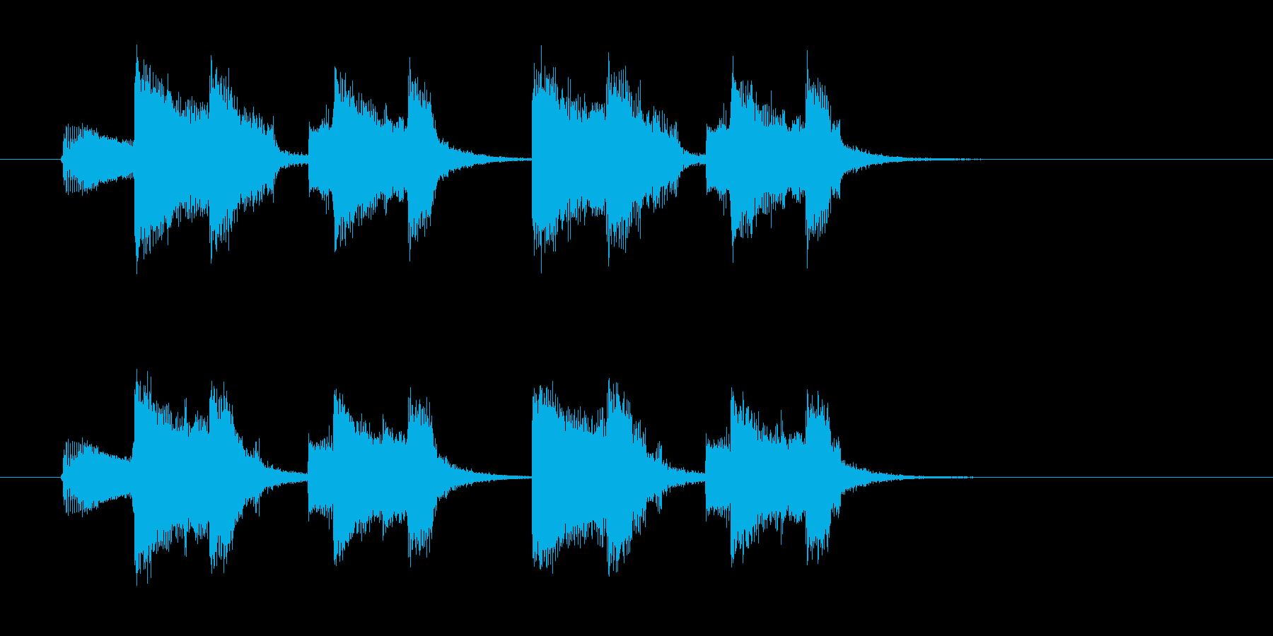 インパクトのあるエレキギターのジングルの再生済みの波形