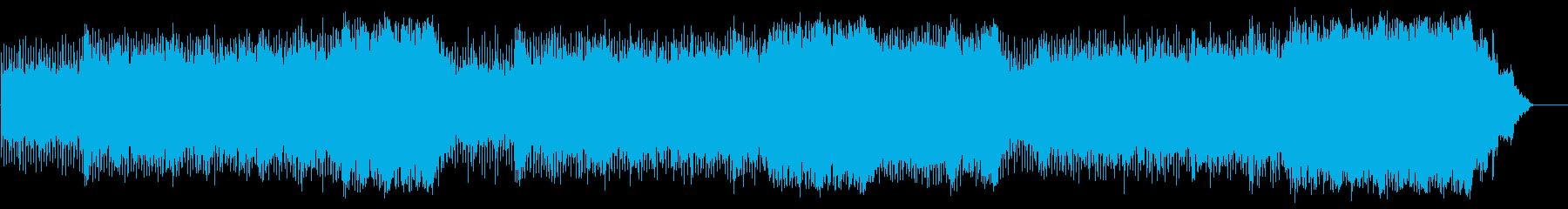 シリアスなテーマのマイナーフュージョンの再生済みの波形