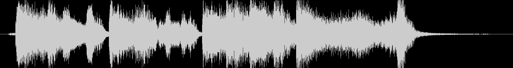 レトロでおしゃれなアコーディオンの未再生の波形