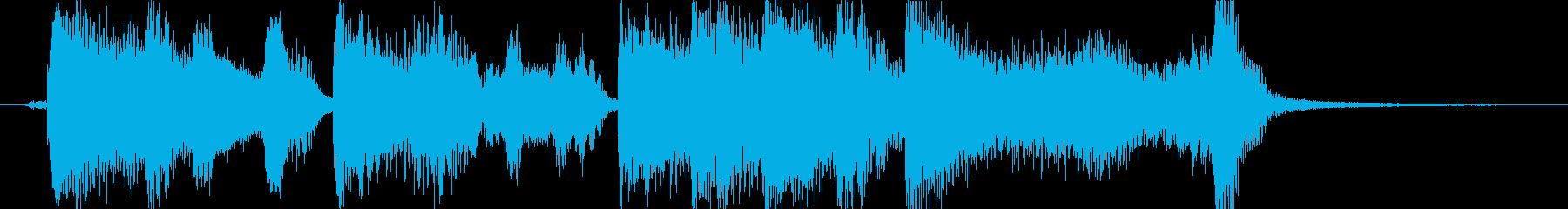 レトロでおしゃれなアコーディオンの再生済みの波形