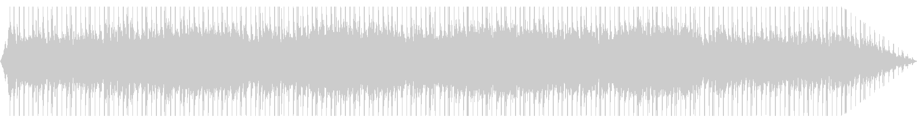 緊張感のあるテクノ曲の未再生の波形
