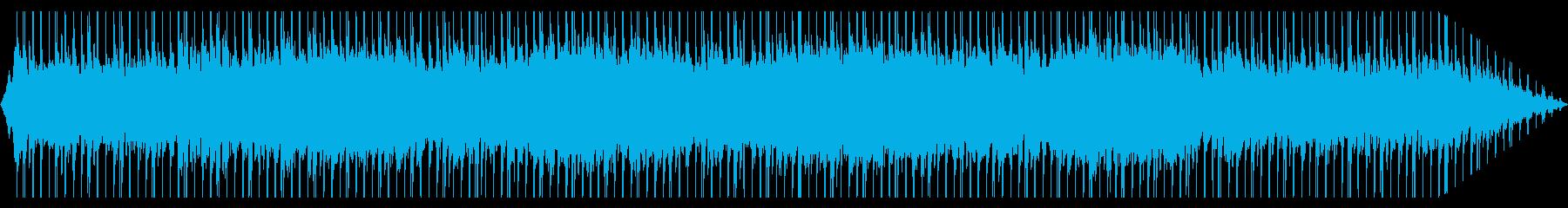 緊張感のあるテクノ曲の再生済みの波形