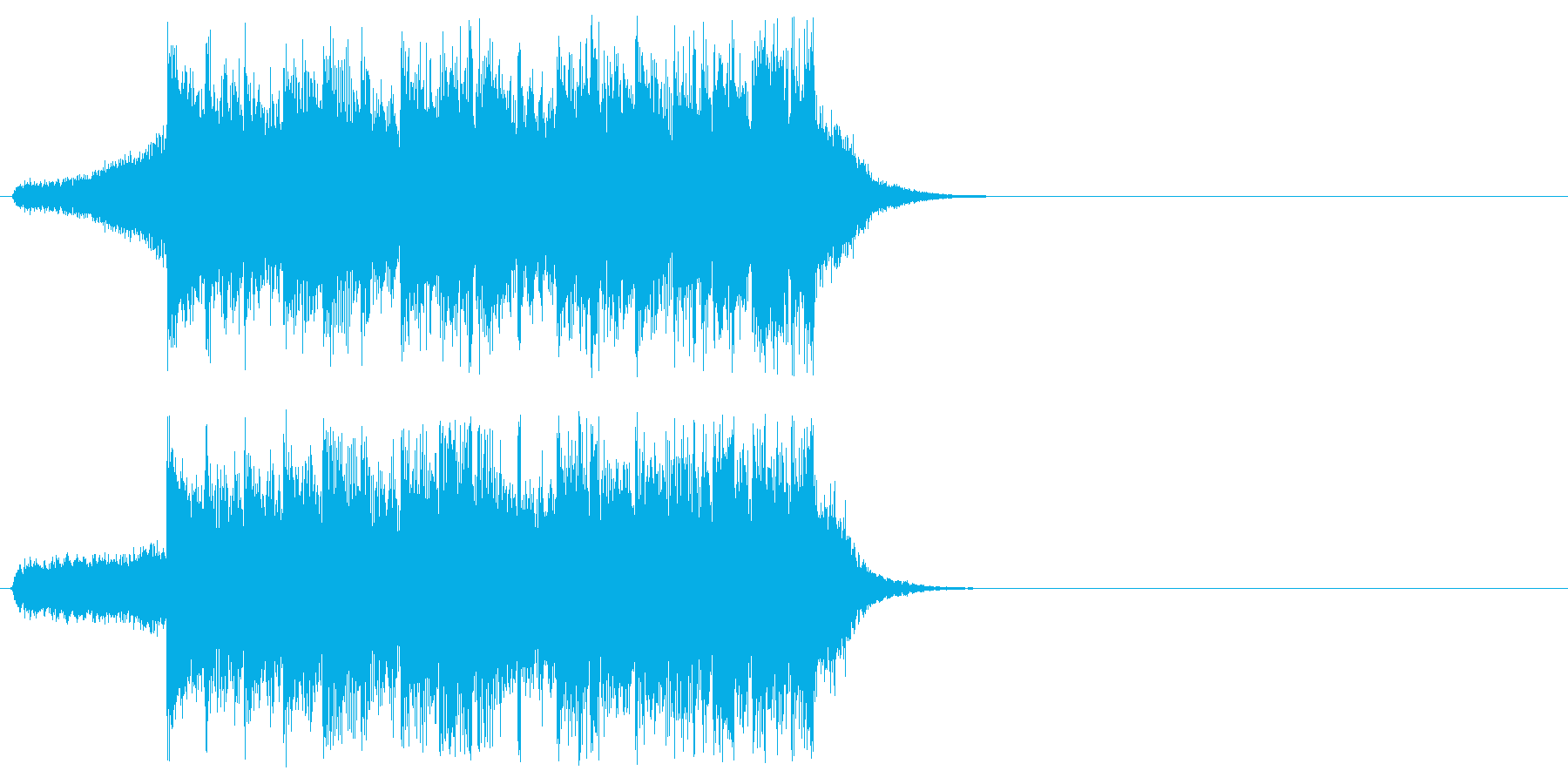 オープニング向きジングルの再生済みの波形