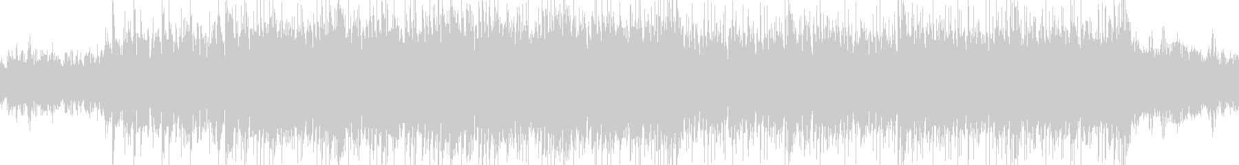 神秘的なループBGMの未再生の波形