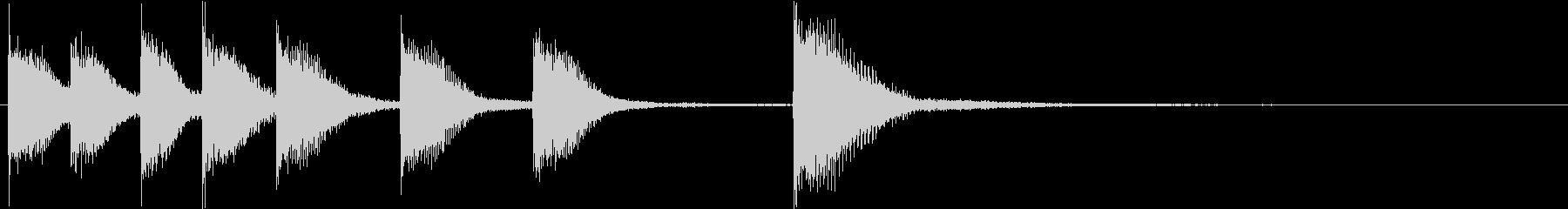 ピアノジングル 幼児向けアニメ系H-03の未再生の波形