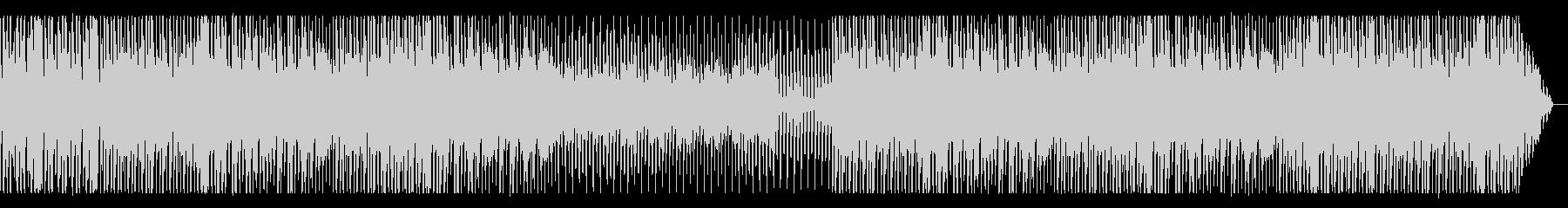 ピアノが中心の都会的テクノ系BGMの未再生の波形