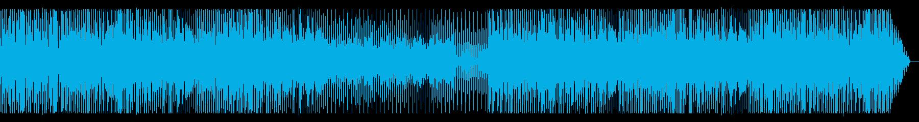 ピアノが中心の都会的テクノ系BGMの再生済みの波形