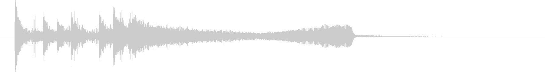 正解・成功・達成時の効果音の未再生の波形