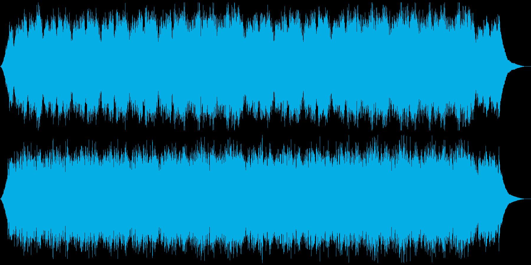 爽やかオープニング映像に おしゃれギターの再生済みの波形