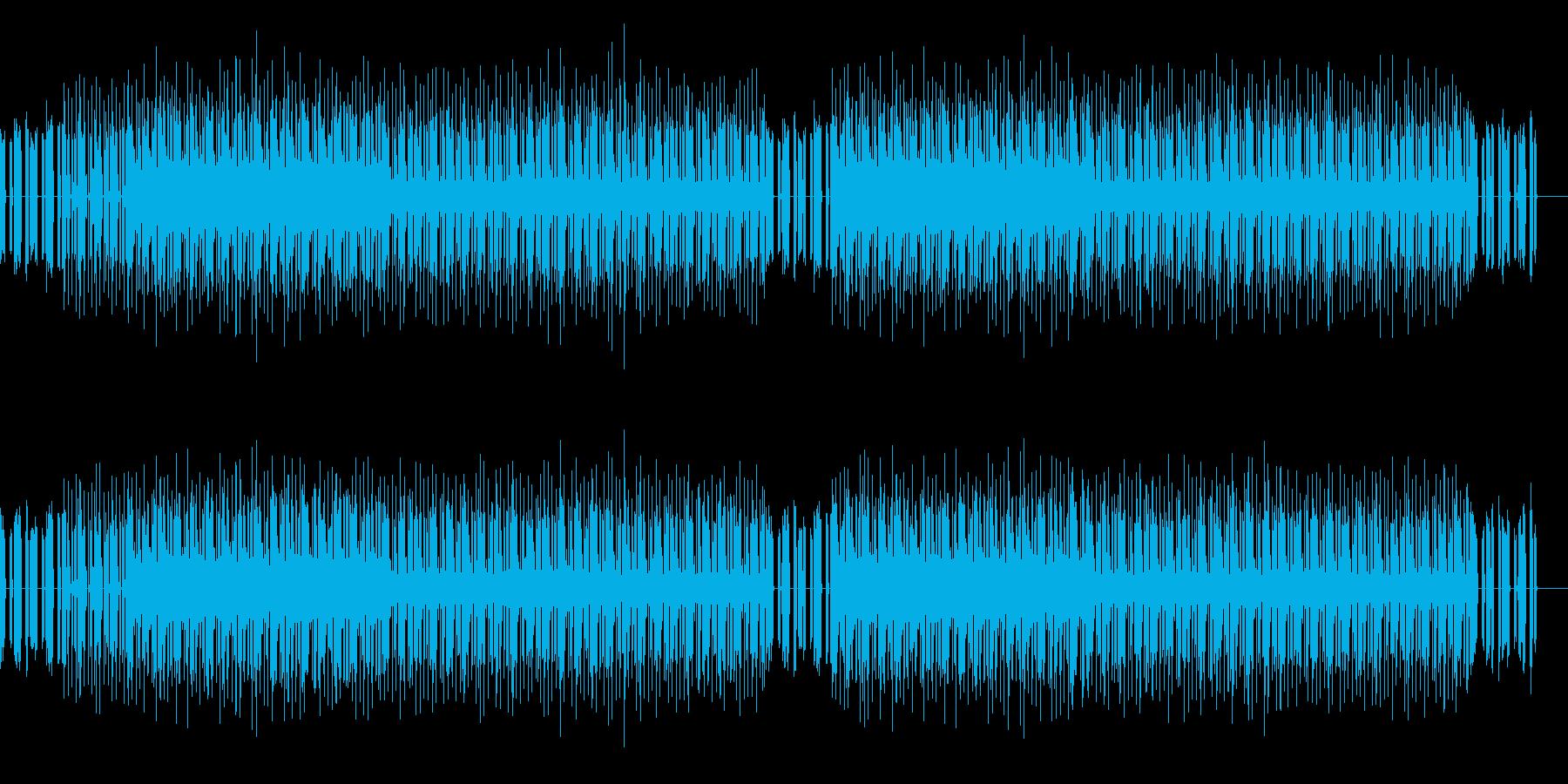 ニュースの報道で流れそうな曲の再生済みの波形