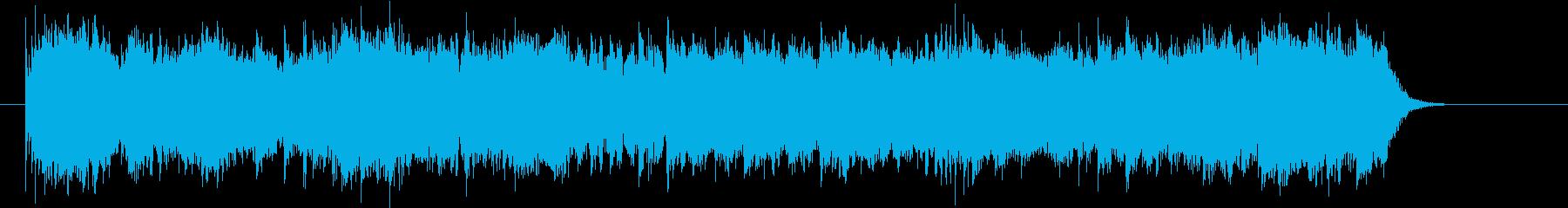 エレキギタノーの哀愁を感じる短いロックの再生済みの波形