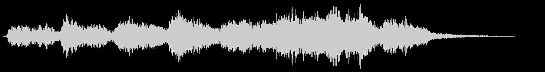オーケストラとピアノのショートジングルの未再生の波形
