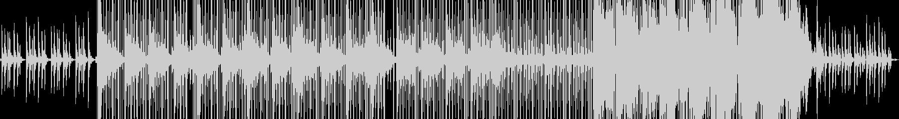 ピアノのスローヒップホップの未再生の波形